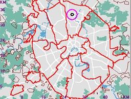 Карта навигатор положение объекта на